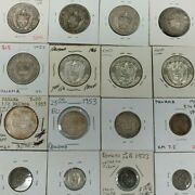 Lot Of Mixed Panama Central America Silver Coins 2 1/2,1/10,1/4,1/2 I994