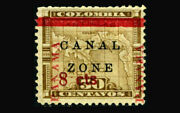 Us Stamp Canal Zone/panama Mint No Gum Vf S15 Scarce Issue