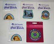 Lot Of 5 Girl Scout Patches 4 Fun Patches 1 Junior Journey Award