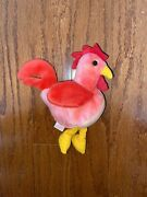 Strut The Rooster Beanie Baby 1996 Errors Pvc Pellets Mint Condition Rare