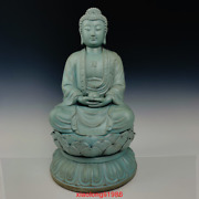 22.4ancient Chinese Song Dynasty Handmade Ru Porcelain Buddhism Ornaments