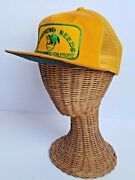 Vintage Browning Seeds Yellow Trucker Style Mesh Snapback Hat Cap Made In Usa