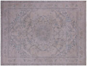 9and039 10 X 12and039 8 Vintage White Wash Handmade Rug - Q4620