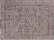 8and039 10 X 12and039 2 Hand Knotted Wool Vintage White Wash Rug - Q4638