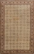 All-over Semi Antique Floral Anatolian Hand-knotted Turkish Wool Area Rug 7and039x10and039