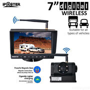 Digital Wireless 7 Monitor +magnetic Base Ccd Backup Camera For Tractor Caravan