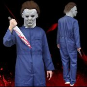Horror Michael Myers Halloween Kills Costume With Latex Led Mask Scary Party