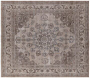 Hand Knotted Vintage White Wash Rug 9and039 8 X 11and039 4 - Q4740