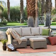 2020 New Natural Outdoor Wicker Resin Patio Furniture Conversation Set
