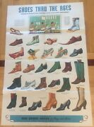 1920's Poster And Brochure On The History Of Shoes From Red Goose Shoes