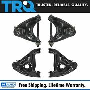 Trq Front Upper Lower Control Arm Ball Joint Suspension Kit Set 4pc For S10 S15