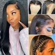 Vogue Natural Human Hair Wigs Indian 360 Lace Front Wigs Straigt Full Lace Wig C