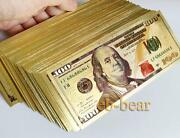 Wholesale 1000 Pcs New 100 Dollar Usd Color Gold Notes Money Banknotes Crafts