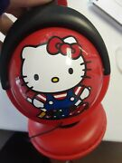 Vintage 1976 And03910 Hello Kitty Sanrio Head Phones Fuzzy Fabric On Top Great