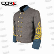Civil War Csa General Infantry 4 Braid Double Breast Wool Shell Jacket All Sizes