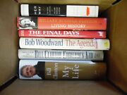 Large Lot Of 6 Bill, Hillary Clinton Hardcover Books Presidential History Fr Sh