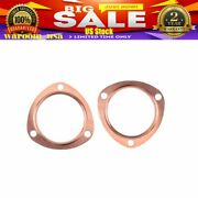 3 Copper Header Exhaust Collector Gaskets Reusable Sbc Bbc 302 350 454 383