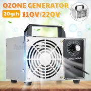 20g/h Ozone Generator Ozone Machine Metal Timing Purifier Air Cleaner Home