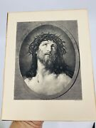Antique Photogravure Co.n.y. Jesus Christ And Crown Of Thorns