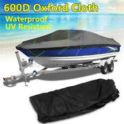 Trailerable Fish Boat Storage Cover 14-16and039 17-19and039 20-22and039 600d 96and039and039 Beam Fish-ski