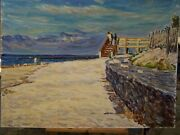 The Cape Cod Iconic Seascape Beach Abstract Impressionism Oil Painting E. Jordan