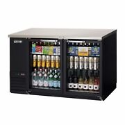 Everest Ebb59g 57 Two Section Back Bar Cooler With Glass Door 20.0 Cu. Ft.