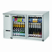 Everest Ebb59g-ss 57 Two Section Back Bar Cooler With Glass Door 20.0 Cu. Ft.