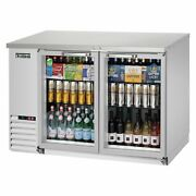 Everest Ebb48g-ss 49 Two Section Back Bar Cooler With Glass Door 14.0 Cu. Ft.