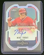 2015 Topps Chrome Mike Trout And Josh Hamilton Back-2-back 2/5 Ssp