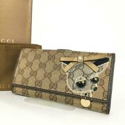 Gg Guccioli Chihuahua Long Wallet Purse Authentic Pre-owned