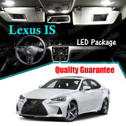 White Led Interior Package Reverse Lights For 2014- 2019 Lexus Is250 Is350 Is300