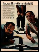 1966 Aurora Slot Car Track Dad Can I Have The Cars Tonight Vintage Print Ad