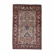 4and0394x6and0399 One From A Pair Antique Farsian Kishoon Hand Knotted Rug R48701