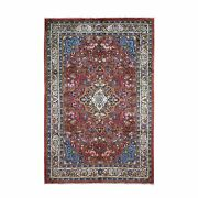 6and0398x10and039 Semi Antique Farsian Mahal Full Pile Clean Hand Knotted Rug R49916