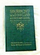 Antique Book San Francisco Oakland Ca Visitors Guide With Map 1923