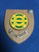 Fishing Shooting Hunting Vintage Trade Members Wall Plaque And Badge