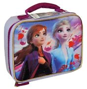 Disney Frozen Ii Anna And Elsa Bpaandlead-safe Insulated Lunch Bag Tote Box Nwt 20