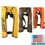 Manual Inflatable Life Jacket Outdoor Portable Pfd Survival Life Vest Adult