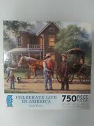 Celebrate Life In America 750 Pc Puzzle Western Art Of Jack Terry/complete