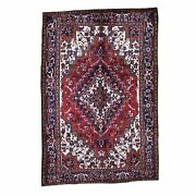 7and0396x11and0391 Red Semi Antique Heris Excellent Condition Hand-knotted Rug R45187