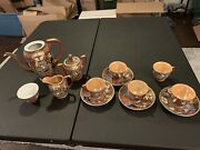 Beteson China J.b. 12 Pieces Hand Painted Made In Occupied Japan + 1 Extra Pot
