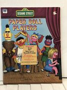 Vintage Whitman Paper Doll Book Sesame Street Play 1976 Complete And Uncut