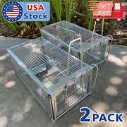 2xrodent Animal Mouse Humane Live Trap Hamster Cage Mice Rat Control Catch Bait