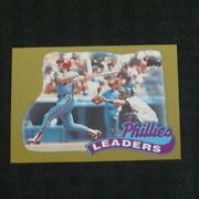 1989 Topps Gold Mike Schmidt Phillies Team Leaders 489 Super Rare Probable 1/1