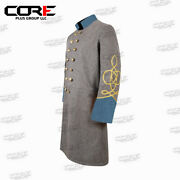Us Civil War Confederate 2 Row Braid Double Breast Infantry Frock Coat All Sizes