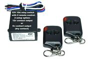 20 Sets Of 12v 15a 315mhz 12v Or 0v Output Relay Switch With 2 Remote Control
