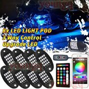 8 Pod Rgb Bluetooth App Motorcycle Led Light Accent Glow Neon Lamp Music Control