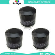 3pcs Engine Oil Filter Fit Honda Gl1800 Gold Wing Abs 2003 2004 2005