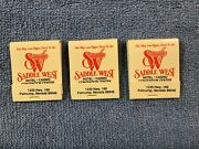Saddle West Hotel And Casino And Convention Center 3 Matchbooks Pahrump, Nevada