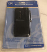 Ge Microcassette Voice Recorder Black 3-5371 Clip-on Microphone 1 Button Record